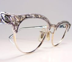 Retro Glam Eyewear: this season's must have accessory Fashion Eye Glasses, Cat Eye Glasses, Vintage Glasses Frames, Eyeglasses For Women, Prada Eyeglasses, Eye Jewelry, Jewlery, Beauty Box, Eyewear