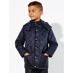 Buy John Lewis Boys' Diamond Quilted Jacket, Navy Online at johnlewis.com