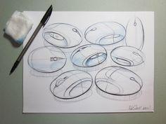 Nice line work Industrial Design Portfolio, Industrial Design Sketch, Portfolio Design, Cool Sketches, Drawing Sketches, Sketching, Sketch Inspiration, Design Inspiration, Mouse Sketch