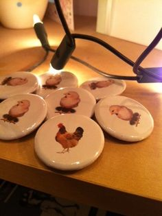 Hen Night / Bachelorette Party Badges. The Hen and Her Chicks.