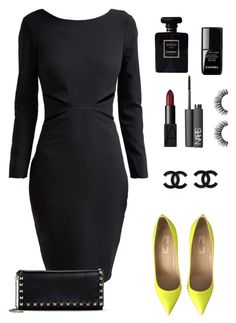 """."" by owl00 ❤ liked on Polyvore featuring Kardashian Kollection, Valentino, Chanel, le top and NARS Cosmetics"