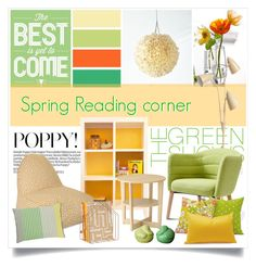 """Spring Reading corner"" by gangdise ❤ liked on Polyvore featuring interior, interiors, interior design, home, home decor, interior decorating, MCM, Dot & Bo and Designers Guild"