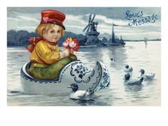 I like the Delft wooden shoe boat.