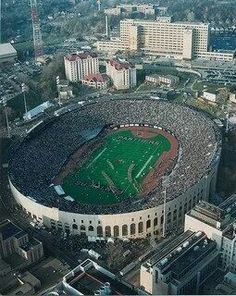 Old hit Stadium where the Steelers played for a short time before Three Rivers Stadium was built. This was 1975 game against the Bengals
