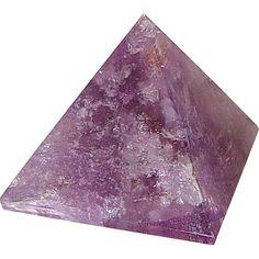 1 x AMETHYST GEMSTONE PYRAMID Wicca Witch Pagan Reiki Goth Punk New Age  #Crystals