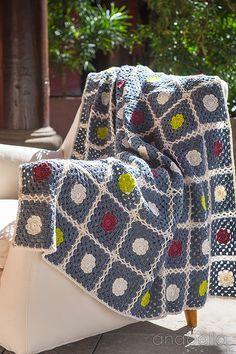 🌸  Nordic inspiration crochet blanket pattern 🌸  Anabelia Craft Design…