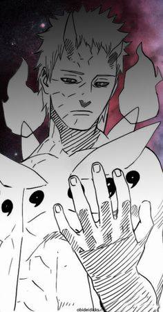 """Naruto to Obito- """"I bet you, your friend Rin would have said this, Don't act tough and hide your wounds, I'm always watching""""."""