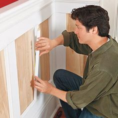 How to layer stock lumber and moldings to produce classic paneled wainscoting. | Photo: Ryan Benyi | thisoldhouse.com