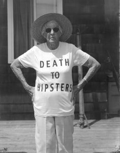 old people are awesome and The Mister's grandfather is the original hipster