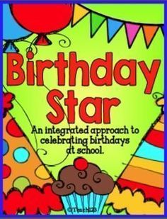 Birthday Star Book #FREE #Teach123