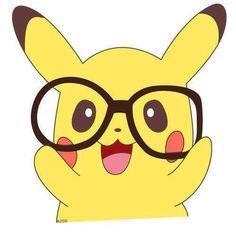 Hipster pikachu!! <333