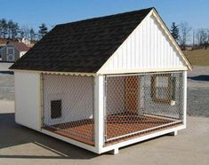 Little Cottage Cape Cod Cozy Cottage Kennel Dog House - Why put your best friend in a dog house, when you can put him or her in a dog home? The Little Cottage Cape Cod Cozy Cottage Kennel is as good as it g. Wood Dog House, Large Dog House, Dog House With Porch, Dog Houses, Play Houses, Cape Cod, Luxury Dog House, Playhouse Kits, Dog House Plans