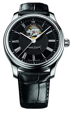 Men watches : Louis Erard Heritage Collection Swiss Automatic Black Dial Men's Watch 60267AA42.BDC02