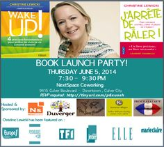 Christine Lewicki's Book Launch Party Invitation!  WAKE-UP! June 5, 2014 - RSVP on Eventbrite to reserve your FREE tickets!
