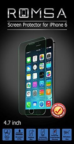 iPhone 6 Screen Protector http://www.amazon.com/Iphone-Screen-Protector-Romsa-Replacement/dp/B00VSAQJ5G