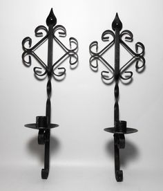 Your place to buy and sell all things handmade Wall Hanging, Wrought Iron, Sconce Candle Holder, Candle Sconces, Etsy Candles, Scroll Design, Metal Candle, Vintage, Vintage Candle Holders