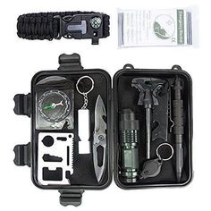 Marocon Survival Kit, 12 in 1 Emergency Survival Kit for Camping,Hiking,Biking,Climbing,Car includes Flashlight, Compass, Steel Knife, Whistle, Tactical Pen, Paracord Bracelet, Emergency Blanket. For product & price info go to:  https://all4hiking.com/products/marocon-survival-kit-12-in-1-emergency-survival-kit-for-campinghikingbikingclimbingcar-includes-flashlight-compass-steel-knife-whistle-tactical-pen-paracord-bracelet-emergency-blanket/ #survivalknife