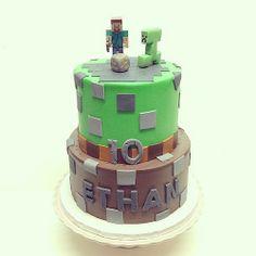 Mine craft birthday cake #polkadotscupcakefactory