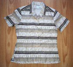 Dress Barn Petite M 100% Silk Tunic Blouse Short Sleeves Khaki White Black Red
