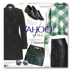 Yahoo Street Style NYFW Trend: Fringe by beebeely-look on Polyvore featuring polyvore, fashion, style, Burberry, Pierre Hardy, Wood Wood, Elizabeth Arden, Klorane, fringe, contestentry, PolyvoreNYFW and yahoostyle