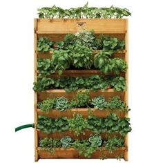 Gronomics 32 in. W x 45 in. H x 9 in. D Vertical Garden Bed-VG – The Home Depot 32 in. W x 45 in. H x 9 in. D Vertical Garden Bed, Unfinished Western Red Cedar