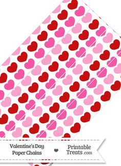 Red and Pink Hearts Paper Chains from PrintableTreats.com