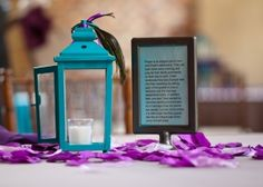 Ruffled®   See ads - 18 Black and Turquoise Lanterns with Peacock Detail - Decor