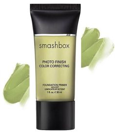 Use a green toned primer to reduce redness in your skin