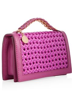 STELLA MCCARTYNEY  Woven faux leather clutch
