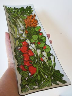 Lacquerware Relish Tray by lookonmytreasures on Etsy