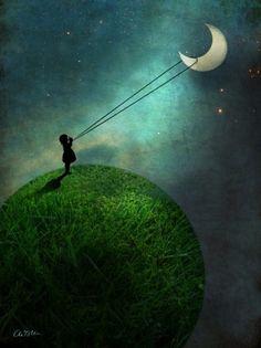 Lasso the moon // #art