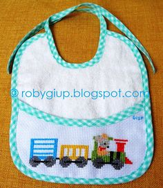 Healthy snacks on the go for kids free online printable Cross Stitch Baby, Counted Cross Stitch Patterns, Cross Stitch Designs, Memory Games For Kids, Bib Pattern, Fun Snacks For Kids, Toddler Preschool, Baby Bibs, Small Bags