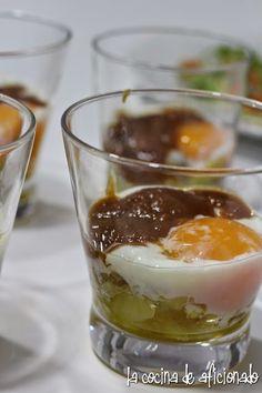 la cocina de aficionado: Huevo con patata confitada y cebolla caramelizada