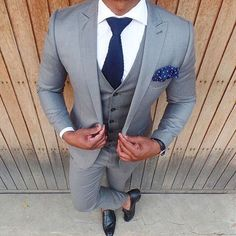 chic and clean groom look