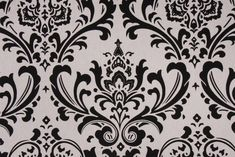 Premier Prints Traditions Printed Cotton Drapery Fabric in Black/White Black And White Google, Black And White Fabric, Black White, White Light, Light Blue, Arabesque, White Pillow Covers, Duvet Covers, Premier Prints