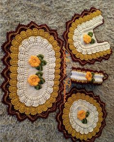 Table Runners, Crochet Earrings, Coasters, Projects To Try, Crochet Patterns, Blanket, Make It Yourself, Bathroom, How To Make