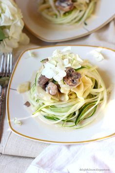 Delightful Mom: Beefless Stroganoff With Zucchini Pasta Noodles
