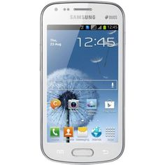 Samsung Galaxy S DUOS S7562 Unlocked GSM Phone with Dual SIM, Android 4.0 OS, 4 Touchscreen, 5MP Camera + Seconday VGA Camera, Video, GPS, Wi-Fi, Bluetooth, Stereo FM Radio, MP3/MP4 Player and microSD Slot - White Android OS v4.0, 4-Inch TFT touchscreen, Dual SIM. 5 MP camera, autofocus, LED Flash, Geo-tagging, VGA@30fps. A-GPS support, Bluetooth v3.0, Wi-Fi; microSD up to 32 GB; 4 GB internal st... #Samsung #Wireless