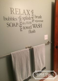 Wall Decal Bathroom decor Sign - Bathroom Subway Art - Bathroom collage