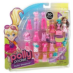 Polly Pocket Styin' Sleepover Play Set: Dolls & Dollhouses : Walmart.com