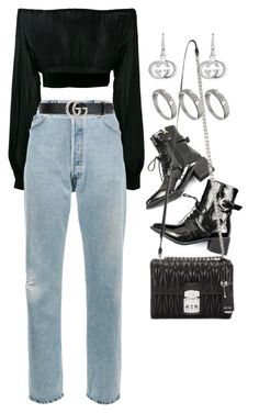 """Untitled #2638"" by mariie00h ❤ liked on Polyvore featuring Yves Saint Laurent, RE/DONE, Gucci, Miu Miu and ASOS"