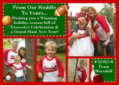 Christmas Card 2011- Sports themed with matching baseball jerseys with family last name.