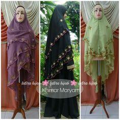 Hijab embroidery. Khimar syari. Jilbab syari. Jilbab embroidery.