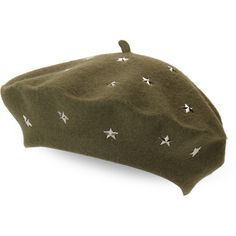 29eaed0053d Steve Madden Star Studded Wool Beret ( 15) ❤ liked on Polyvore featuring  accessories