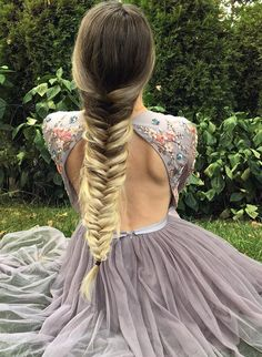 Beautiful L'Oreal long braid ombre hairstyles for your wedding day in 2017 2018.