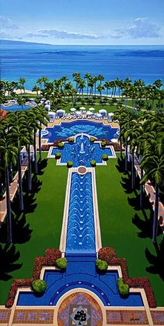 Grand Wailea, Waldorf Astoria Resort in Maui...Me and the Kids stayed here in 2007:))) Beautiful Fun Place!!