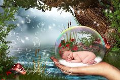 Newborn photography digital backdrop | Background  photo for baby boys & girls props |Moss Forest Pond by GraphicsSt on Etsy