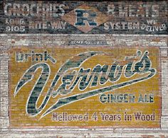 Freshly exposed after a neighboring building was demolished, the Vernors sign was well-preserved, apparently for many decades. TITLE: Vernors Ghost Sign: Detroit, MI MEDIUM: Fine art print (unframed) ORIENTATION: Horizontal  8x12, 12x18: All unframed photographs are placed in a clear resealable bag, with a foamcore backing. Then its placed in a water tight padded envelope and mailed first class. 16x20: The unframed photographs will be carefully rolled up and shipped inside a poster tube…