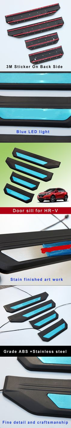for 2016 2017 2018 2019 Honda CRV CR-V 4 Pieces Custom Fit Automotive Self Healing Door Sill Guard Protector Clear Paint Protection Film