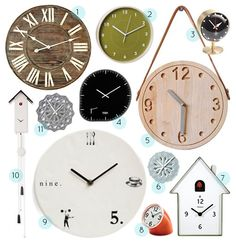 40+ of our favorite clocks. Yay daylight savings time!